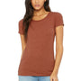 Bella + Canvas Womens Short Sleeve Crewneck T-Shirt - Clay Red