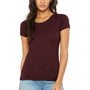 Bella + Canvas Womens Short Sleeve Crewneck T-Shirt - Maroon
