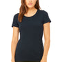 Bella + Canvas Womens Short Sleeve Crewneck T-Shirt - Solid Navy Blue