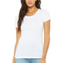 Bella + Canvas Womens Short Sleeve Crewneck T-Shirt - Solid White