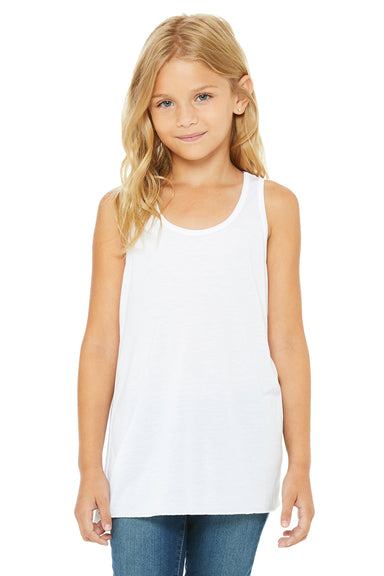 Bella + Canvas B8800Y Youth Flowy Tank Top White Front