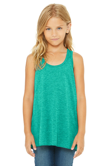 Bella + Canvas B8800Y Youth Flowy Tank Top Teal Green Front