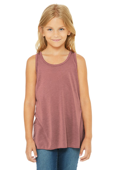 Bella + Canvas B8800Y Youth Flowy Tank Top Mauve Purple Front