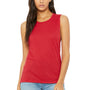 Bella + Canvas Womens Flowy Muscle Tank Top - Red