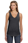 Bella + Canvas B8805 Womens Flowy Tank Top Heather Dark Grey Front