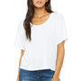 Bella + Canvas Womens Flowy Boxy Short Sleeve Scoop Neck T-Shirt - White