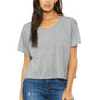 Bella + Canvas Womens Flowy Boxy Short Sleeve Scoop Neck T-Shirt - Heather Grey