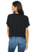 Bella + Canvas B8881 Womens Flowy Boxy Short Sleeve Scoop Neck T-Shirt Black Back