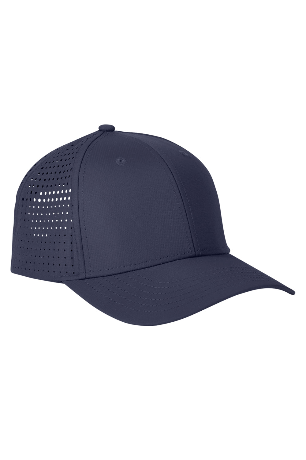 Big Accessories BA537 Mens Performance Adjustable Hat Navy Blue Front