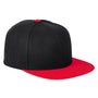 Big Accessories Mens Adjustable Hat - Black/Red