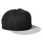 Big Accessories Mens Adjustable Hat - Black/Heather Grey