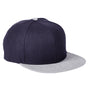 Big Accessories Mens Adjustable Hat - Navy Blue/Heather Grey