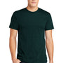 American Apparel Mens Black Aqua Short Sleeve Crewneck T-Shirt