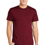 American Apparel Mens Heather Cranberry Red Short Sleeve Crewneck T-Shirt