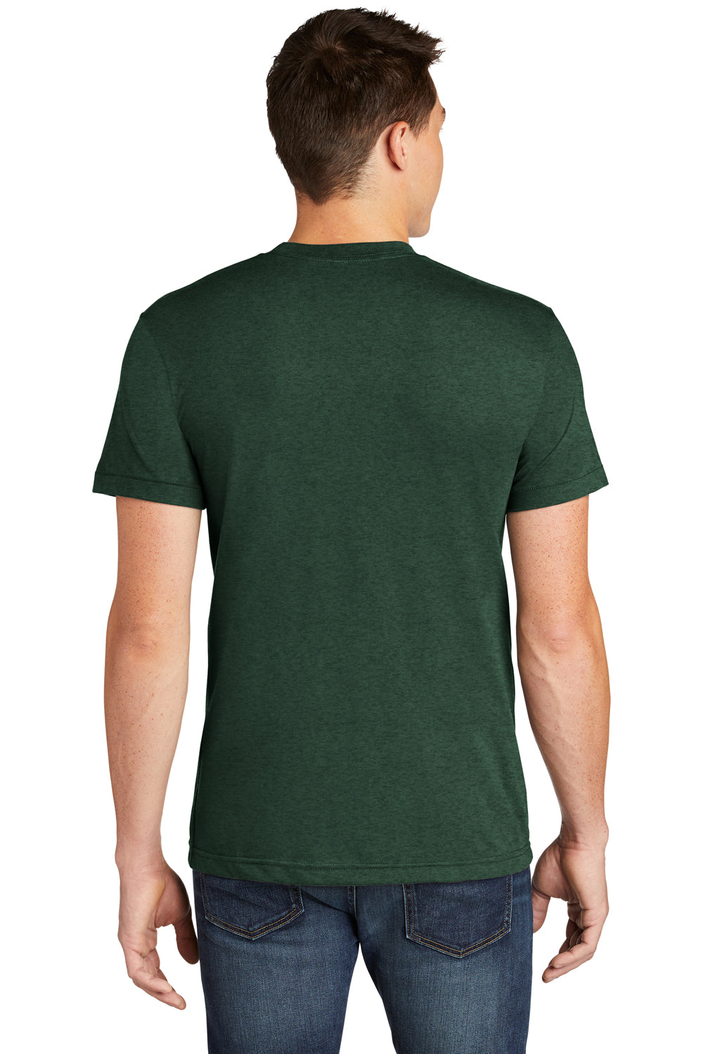 American Apparel BB401W Mens Short Sleeve Crewneck T-Shirt Heather Forest Green Back