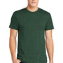American Apparel Mens Heather Forest Green Short Sleeve Crewneck T-Shirt