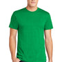 American Apparel Mens Heather Kelly Green Short Sleeve Crewneck T-Shirt