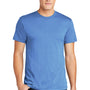 American Apparel Mens Heather Lake Blue Short Sleeve Crewneck T-Shirt