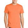 American Apparel Mens Heather Orange Short Sleeve Crewneck T-Shirt