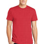 American Apparel Mens Heather Red Short Sleeve Crewneck T-Shirt