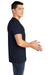 American Apparel BB401W Mens Short Sleeve Crewneck T-Shirt Navy Blue Side