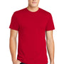 American Apparel Mens Red Short Sleeve Crewneck T-Shirt