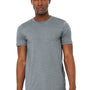 Bella + Canvas Mens Jersey Short Sleeve Crewneck T-Shirt - Heather Grey