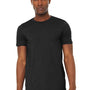 Bella + Canvas Mens Jersey Short Sleeve Crewneck T-Shirt - Heather Black