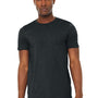 Bella + Canvas Mens Jersey Short Sleeve Crewneck T-Shirt - Heather Dark Grey