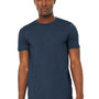 Bella + Canvas Mens Jersey Short Sleeve Crewneck T-Shirt - Heather Navy Blue