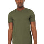 Bella + Canvas Mens Jersey Short Sleeve Crewneck T-Shirt - Heather Olive Green