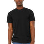 Bella + Canvas Mens Jersey Short Sleeve Crewneck T-Shirt - Solid Black