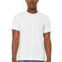 Bella + Canvas Mens Jersey Short Sleeve Crewneck T-Shirt - Solid White