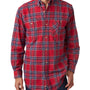 Backpacker Mens Blue Stuart Flannel Long Sleeve Button Down Shirt w/ Double Pockets