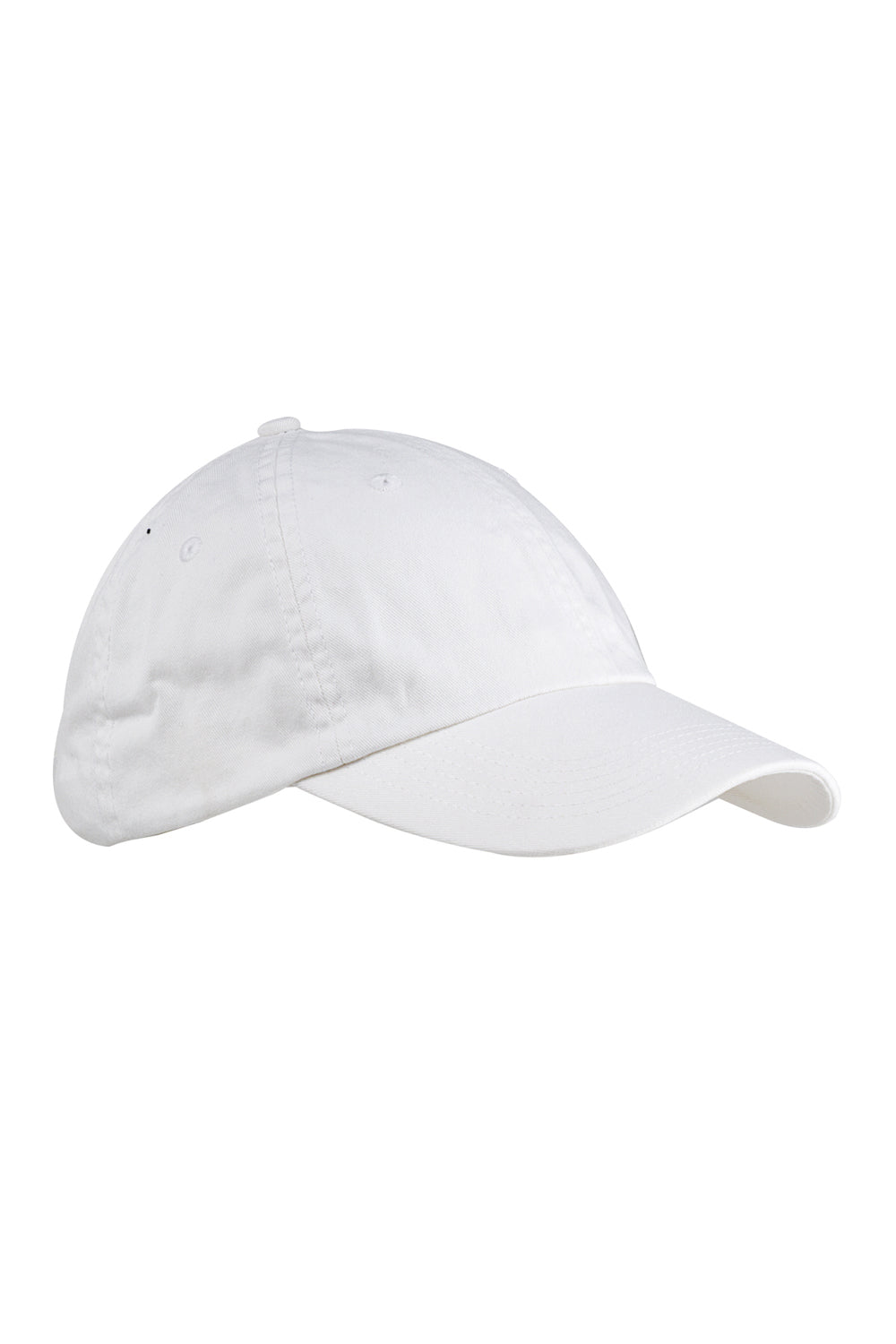 Big Accessories BX005 Mens Adjustable Hat White Front