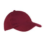 Big Accessories Mens Adjustable Hat - Maroon