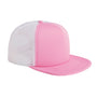 Big Accessories Mens Adjustable Trucker Hat - Pink/White