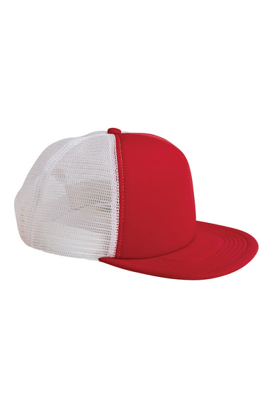 Big Accessories BX030 Mens Adjustable Trucker Hat Red Front