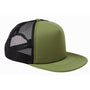 Big Accessories Mens Adjustable Trucker Hat - Olive Green/Black