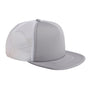 Big Accessories Mens Adjustable Trucker Hat - Steel Grey/White