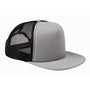 Big Accessories Mens Adjustable Trucker Hat - Steel Grey/Black