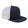 Big Accessories Mens Adjustable Trucker Hat - Navy Blue/White