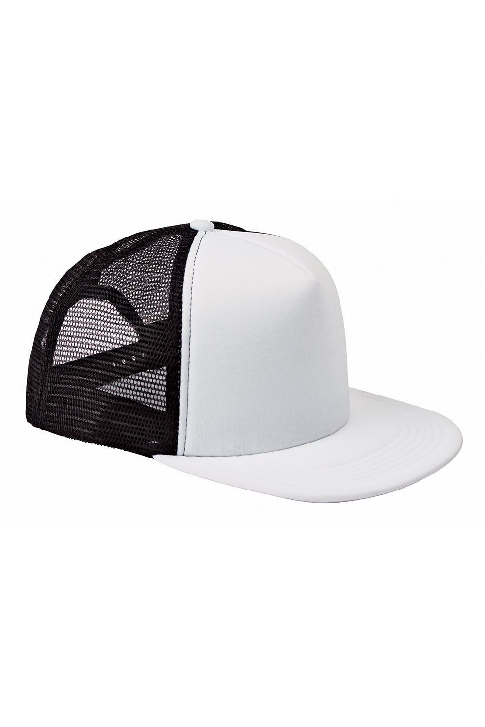Big Accessories BX030 Mens Adjustable Trucker Hat White Front