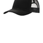 Port Authority Mens Adjustable Trucker Hat - Black