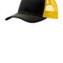 Port Authority Mens Adjustable Trucker Hat - Black/Gold