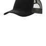 Port Authority Mens Adjustable Trucker Hat - Black/Steel Grey