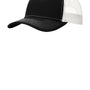 Port Authority Mens Adjustable Trucker Hat - Black/White