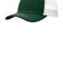 Port Authority Mens Adjustable Trucker Hat - Dark Green/White
