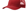 Port Authority Mens Adjustable Trucker Hat - Flame Red