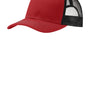 Port Authority Mens Adjustable Trucker Hat - Flame Red/Black